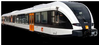 En tren -