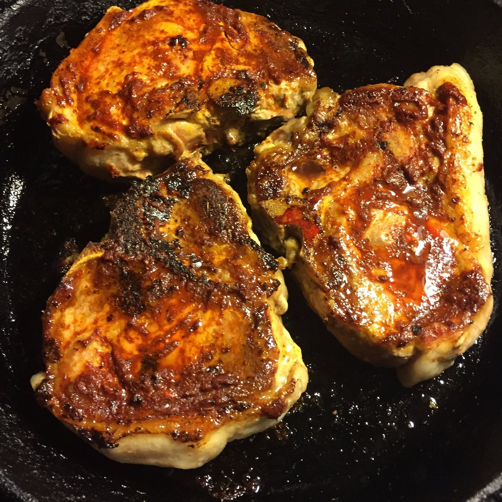harissa pan pork chops