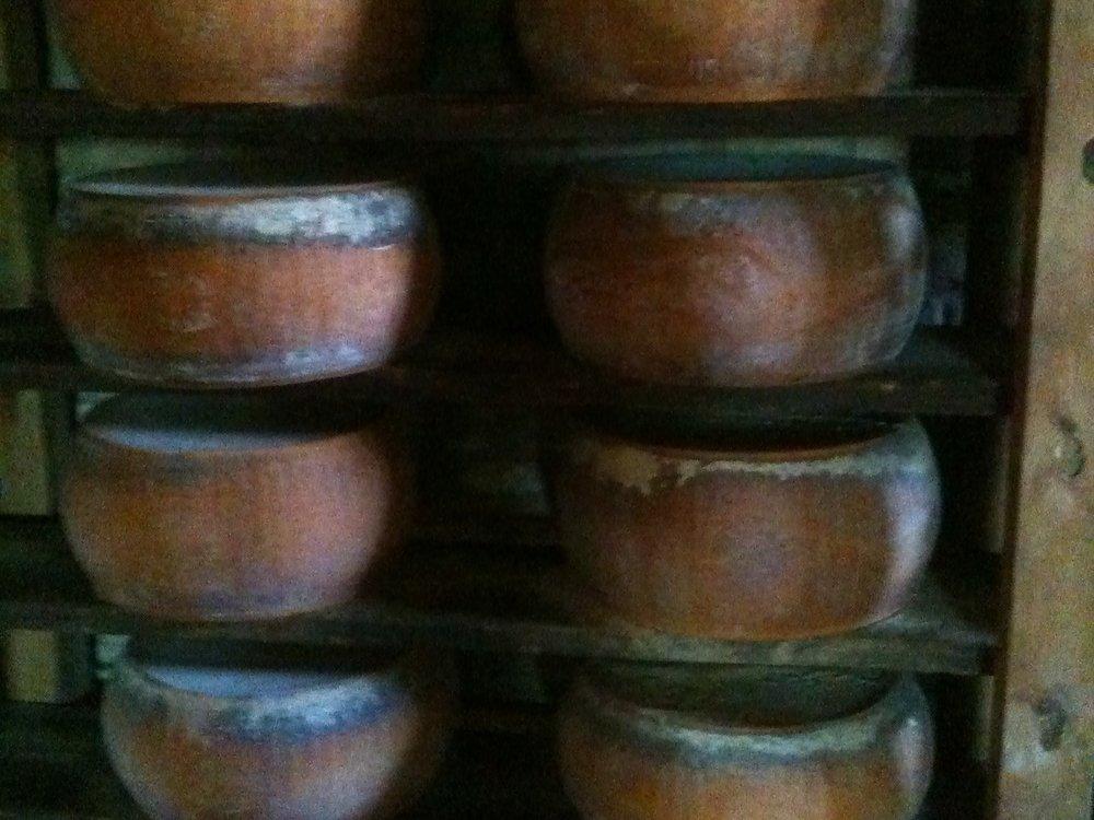 8-year-old Parmigiano in the cellar at Antica Corte Palavicina