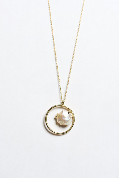 and circle vrai oro gold necklace products grande rose p