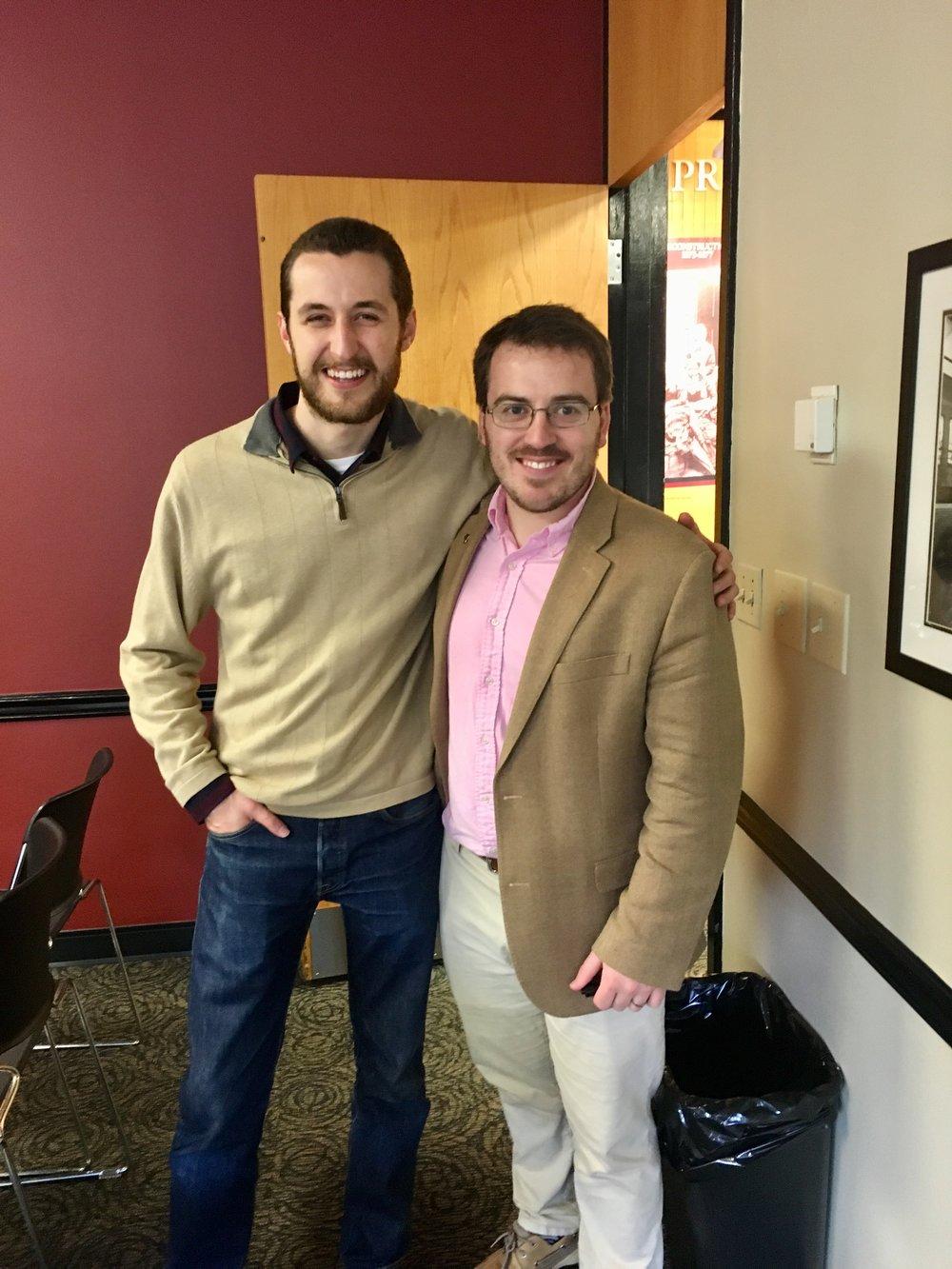 Foundation board member Trey Gordner (L) and secretary Nick Wilson (R)