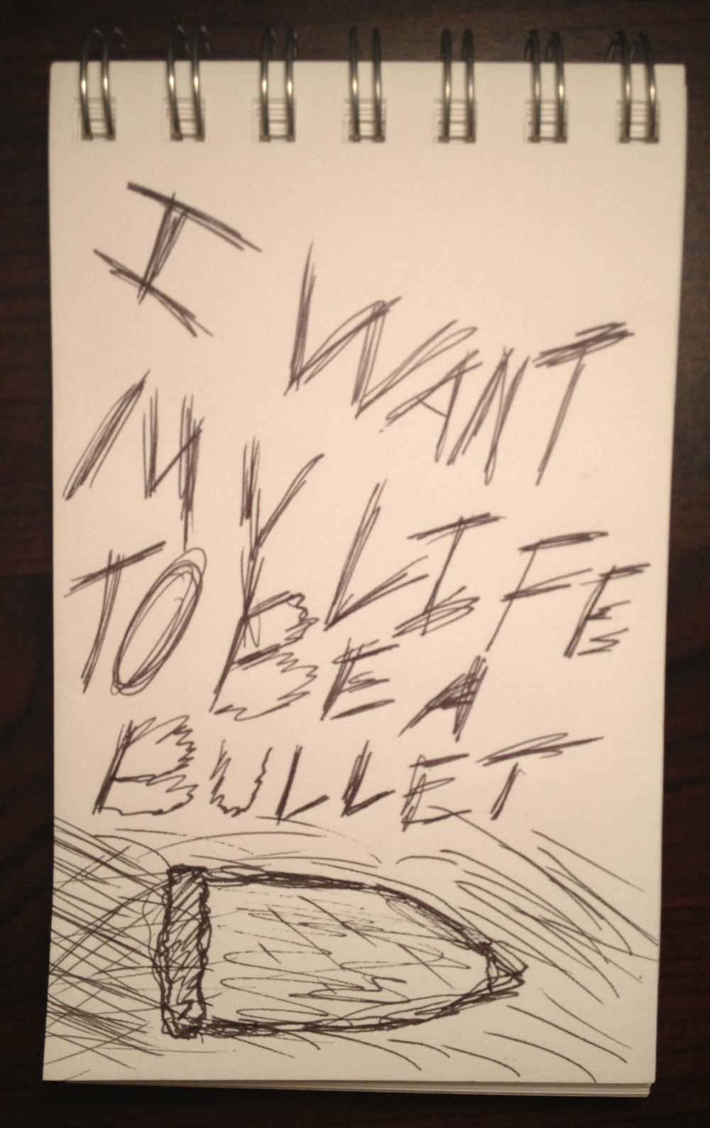 I Want My Life To Be A Bullet