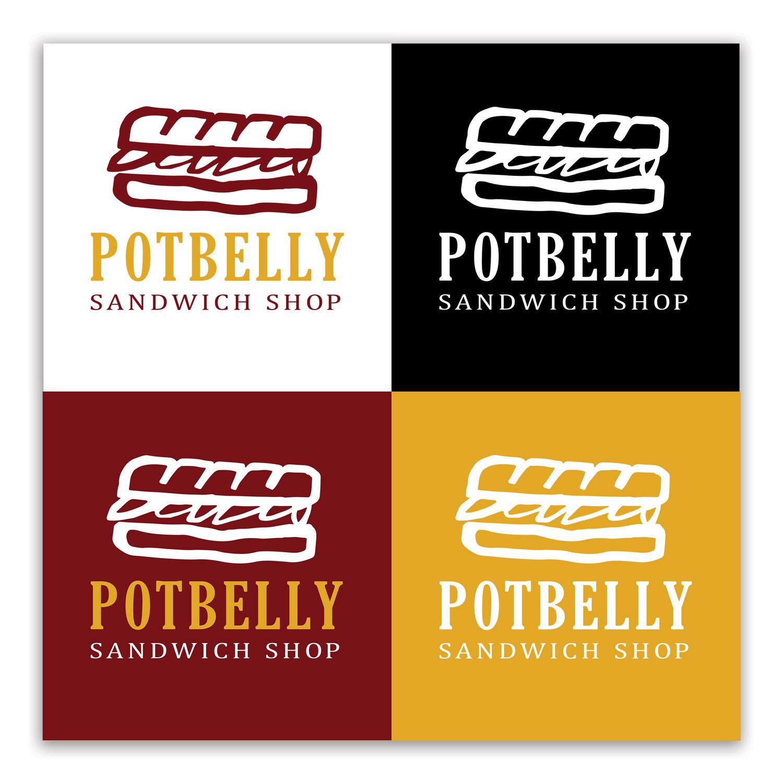 Potbelly Logo Rebrand & Logo Design Potbelly Restaurant  Kristina Bowman