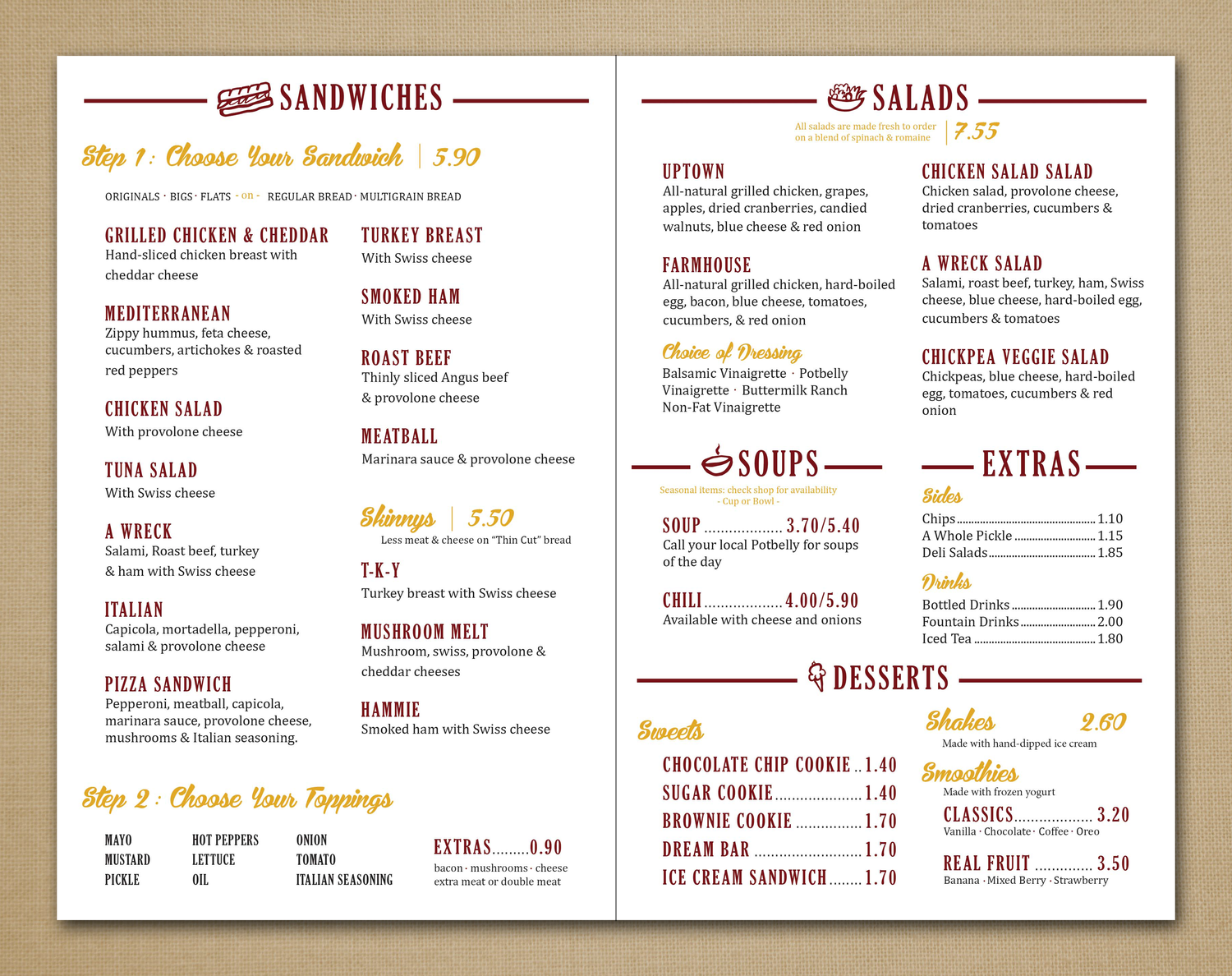 Terrible image within potbelly printable menu