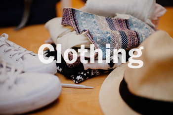 Various clothing items