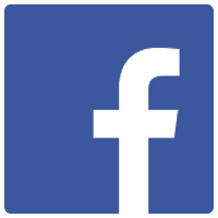 Facebook logo. Links to Community Living Facebook page.