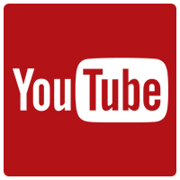 Youtube Logo. Links to Inclusion SK YouTube.