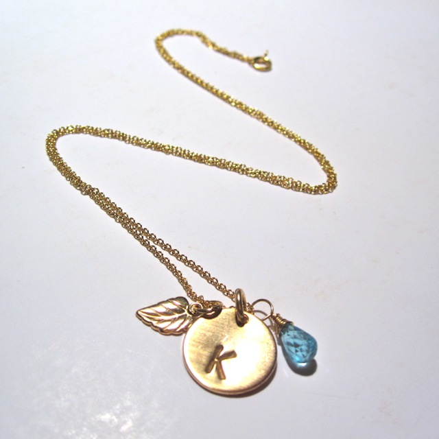 sweet leaf charm necklace by onelifejewelry