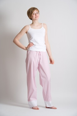 What Lola Wants Pink Pajama Pants in Egyptian Cotton