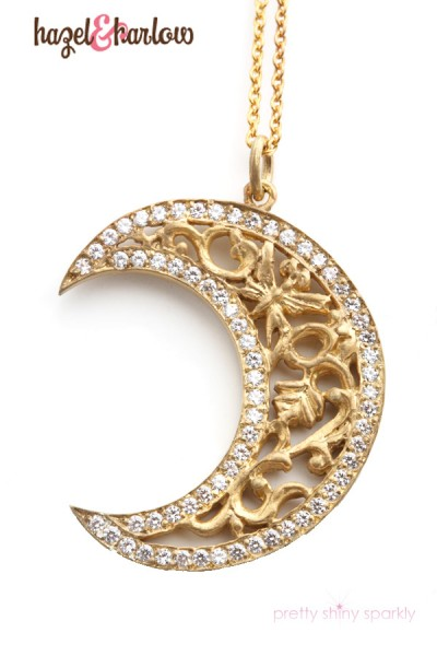 Crescent Moon Pendant Giveaway with Hazel & Harlow as featured on Oprah