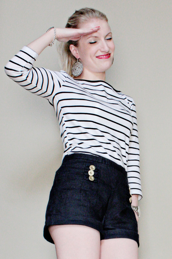breton stripes forever 21 linen high waist shorts anne taylor espadrille wedges