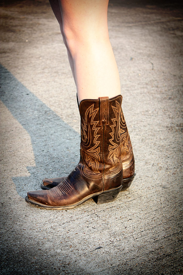 Boot Scootin' Boogie in my BB Dakota Romper and Lucchese boots - Pretty Shiny Sparkly