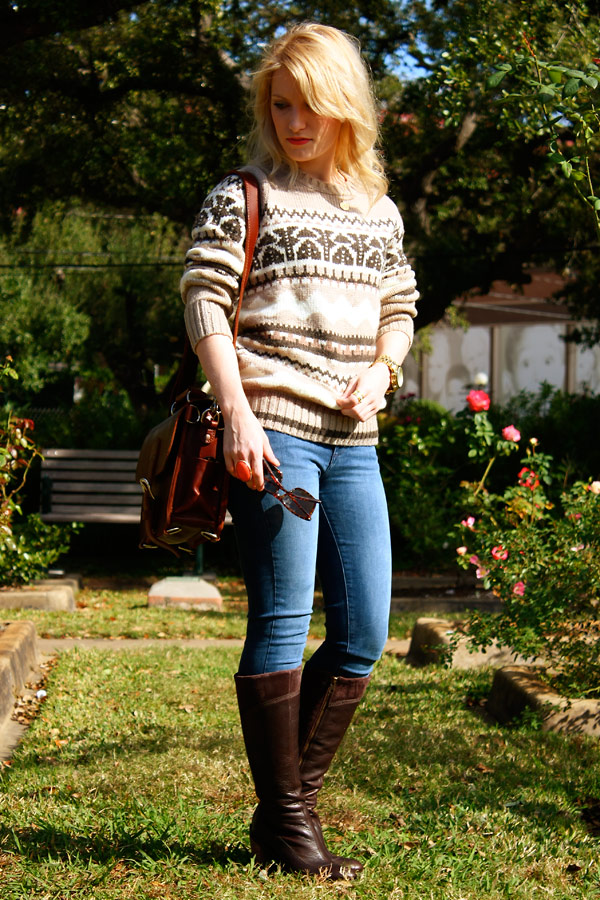 Lands' End Canvas Nordic Sweater