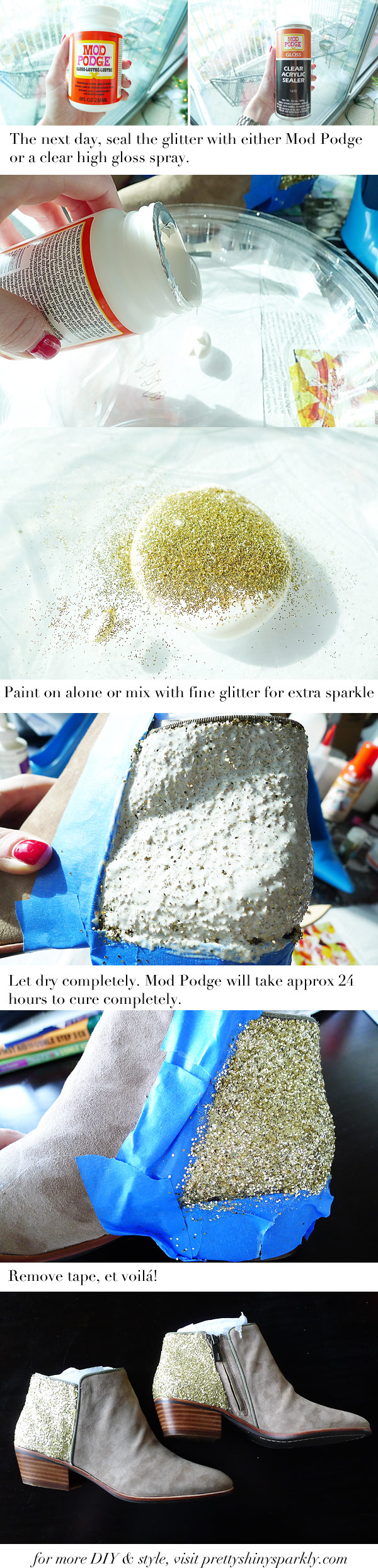 diy glitter ankle boot instructions part 2