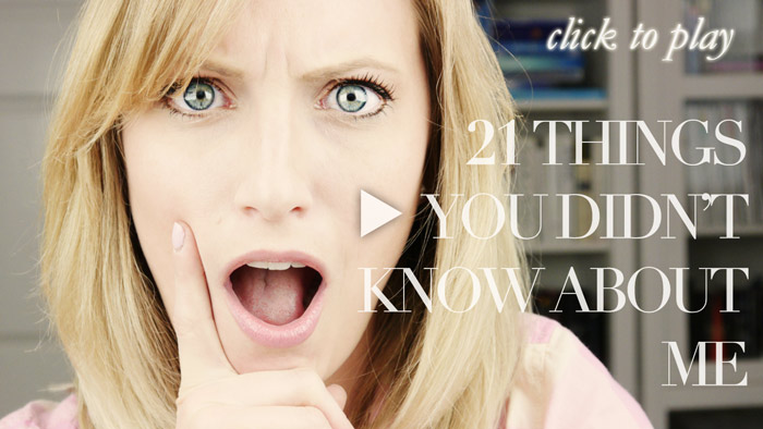 21 Things You Didn't Know About Me