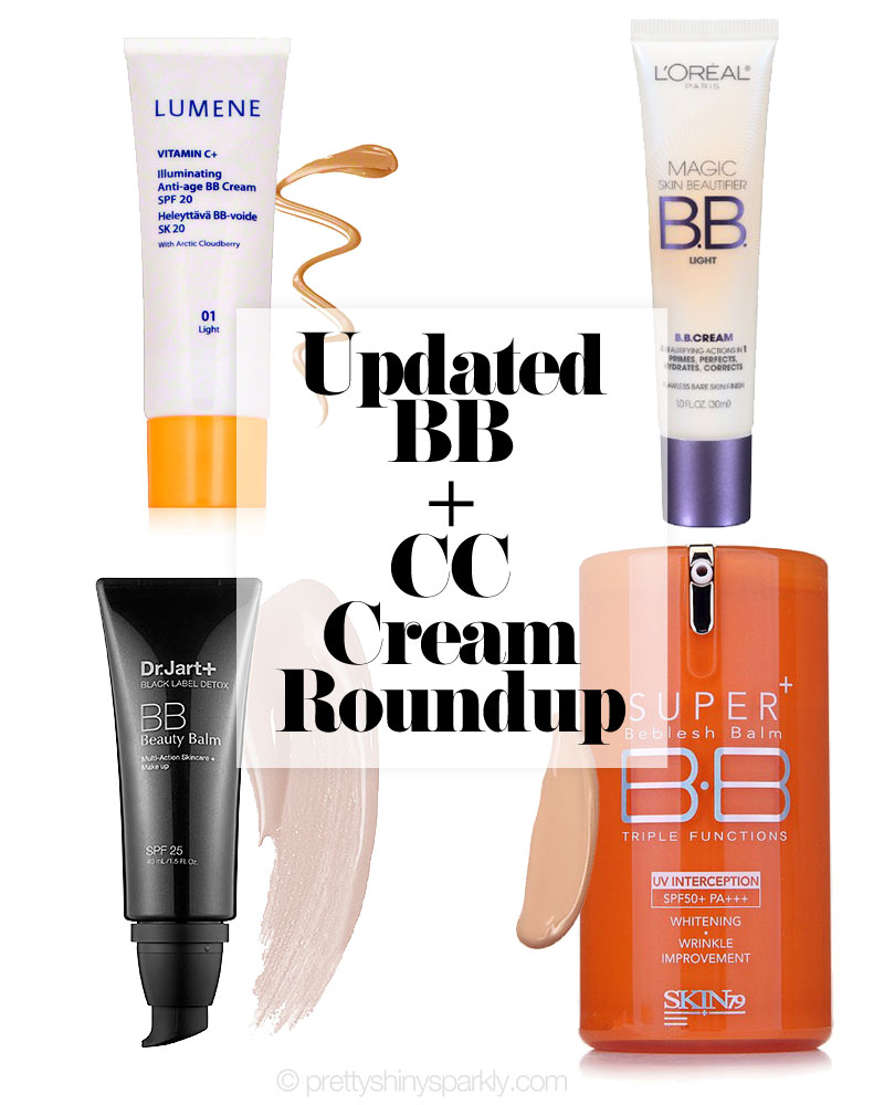 Updated BB & CC Cream Roundup Part 1