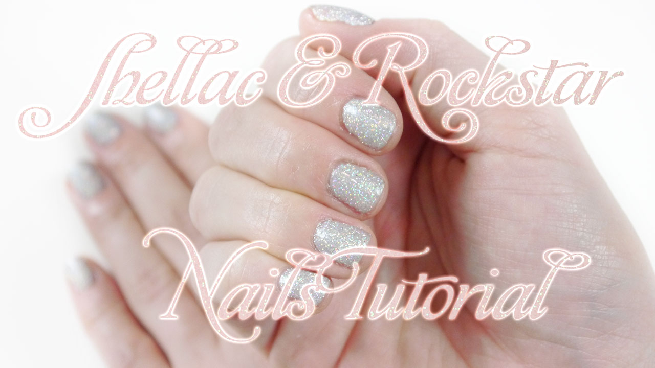 shellac rockstar nails bling holographic