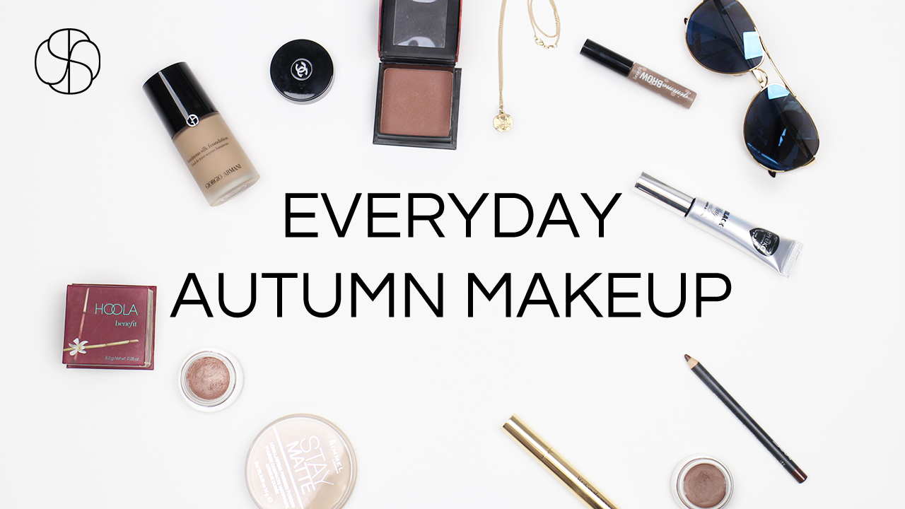 Everyday Autumnal makeup look by pretty shiny sparkly