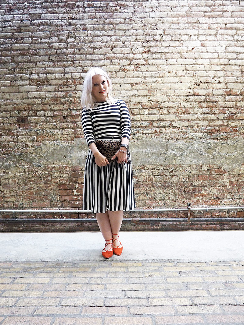 new york fashion week stripes and red topshop kingdom shoes