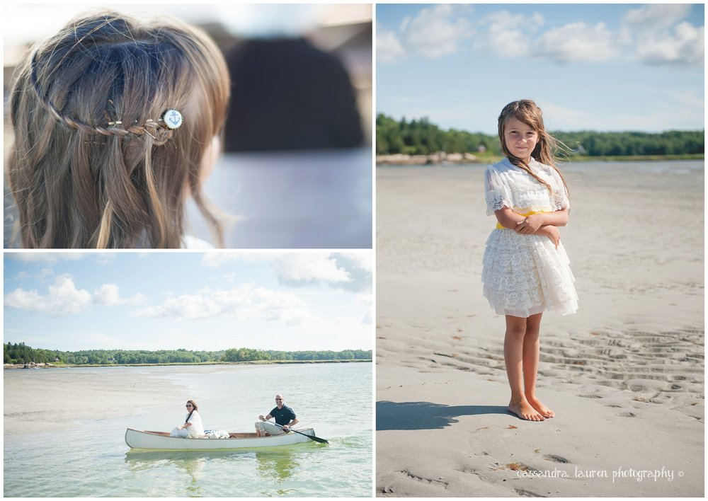 flower girl nautical canoe Mass wedding photographer