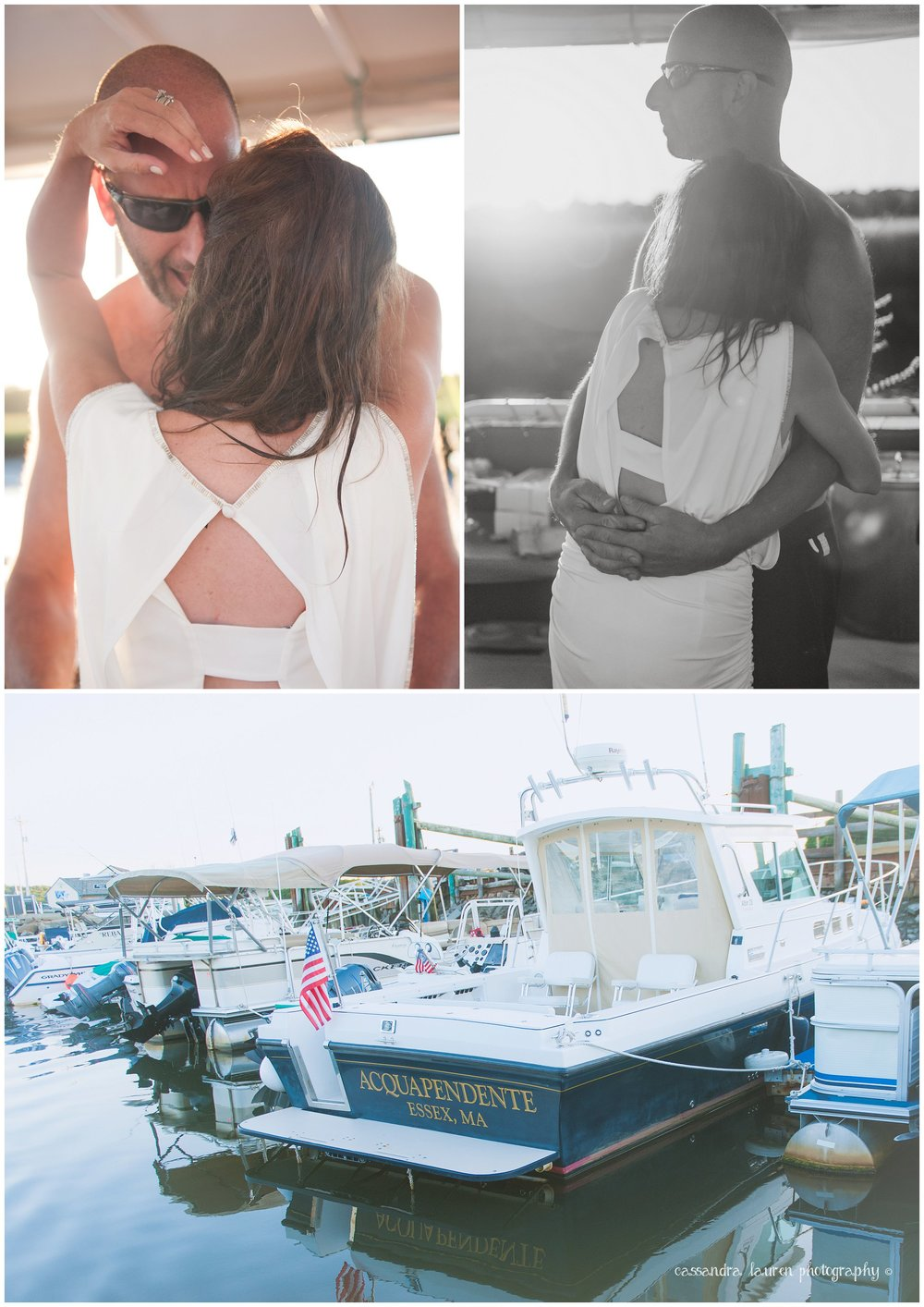 First dance wedding boat essex river MA photographer