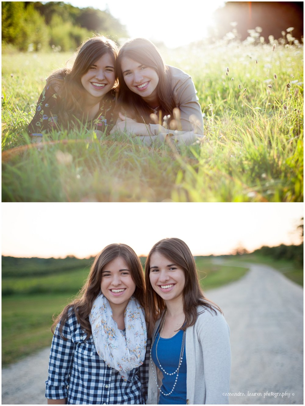 High School Senior Twin Girls Portrait Photography Northshore MA