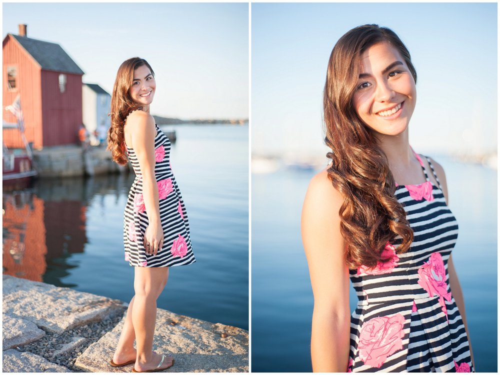 Rockport Harbor Motif #1 HS Senior Pictures Photographer