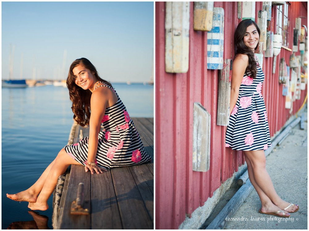 Nautical Senior Pictures Rockport MA photographer