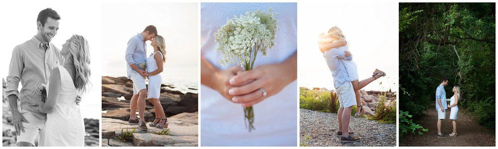 Halibut Point Rockport Massachusetts Sunset Portrait engagement Photographer