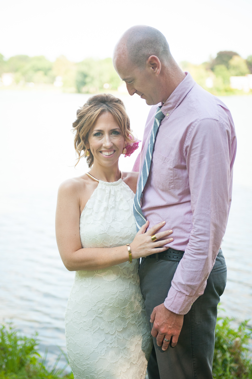Lake Quannapowitt MA Small intimate ceremony wedding photographer