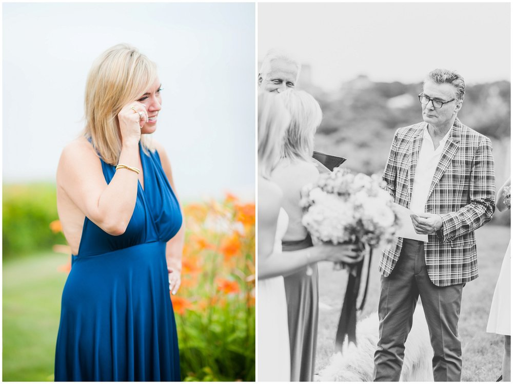 Rockport MA intimate wedding ceremony photography vows