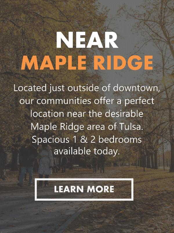 Spacious Apartments Near the Maple Ridge Area of Midtown Tulsa