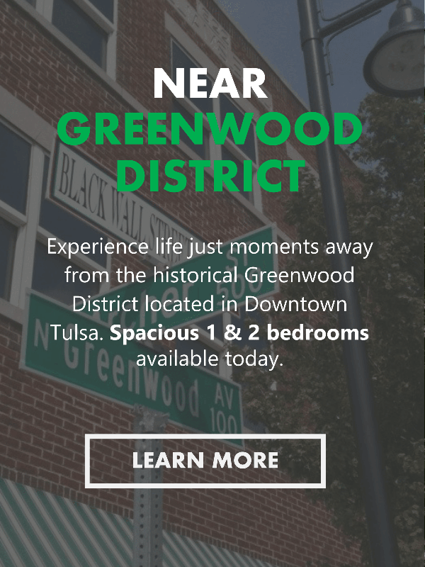 Apartments in Tulsa Near the Greenwood District Area