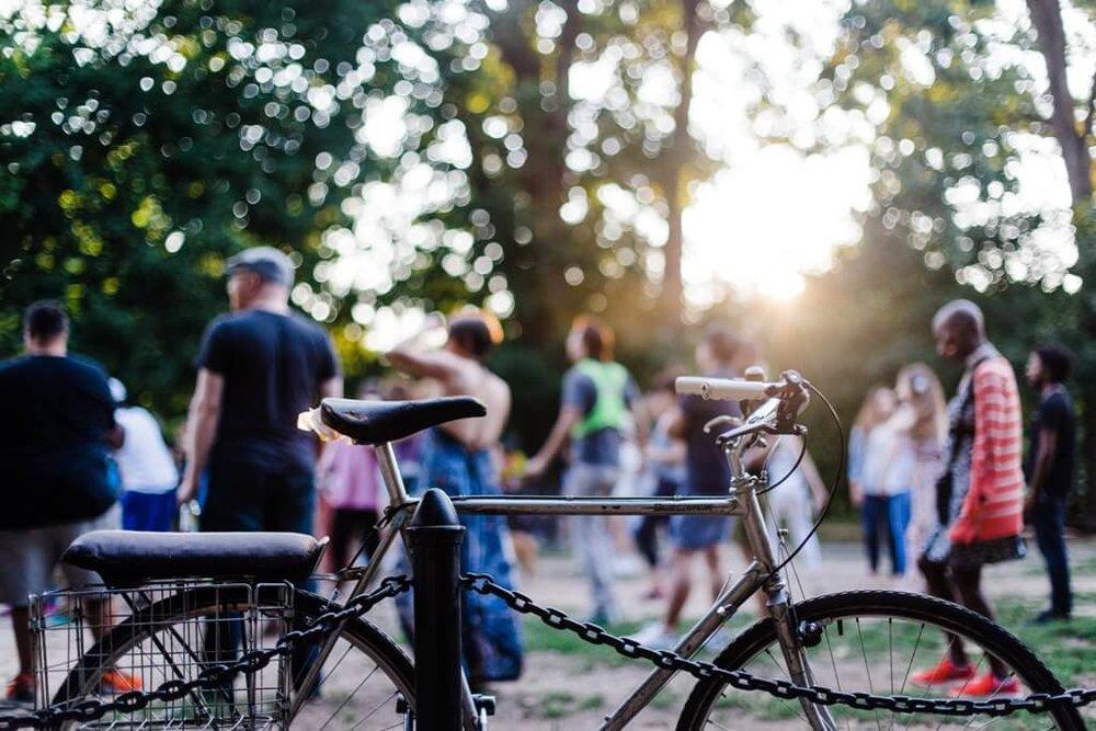 Gathering Place Tulsa People at Bike Center