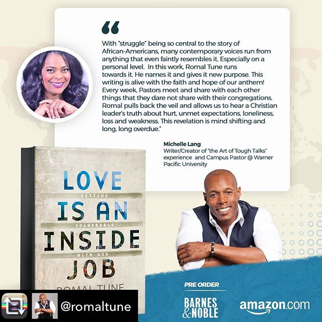 I was honored to write a review for @RomalTune's new book. An important work about being emotionally honest and taking the journey to be restored. Order it. I highly recommend.
