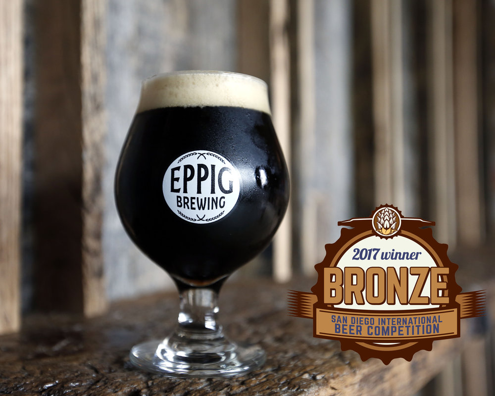 BALTIC PORTER strong dark lager ABV 9.1%  IBU 35 Notes of dark, dried fruit, faint bakers chocolate, with a delicate roast on the finish. Limited Release Bronze Medal, 2017 San Diego International Beer Competition (Porter)