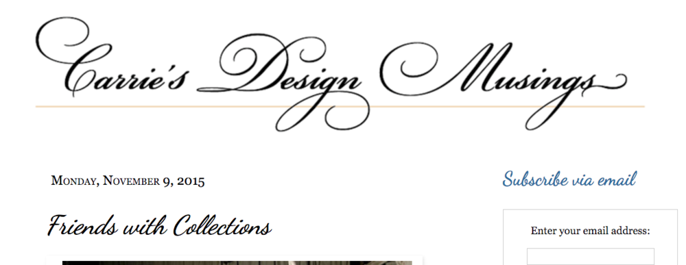 Carrie's Design Musings