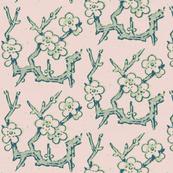 minton branch, pinkish minty