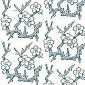 minton branch, white indigo