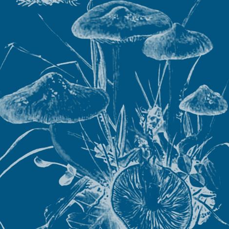 mushroom large, cerulean