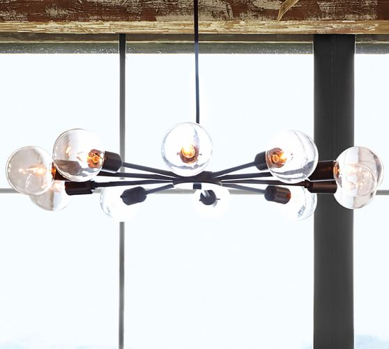 Mid Centery Orb Chandelier- Pottery Barn