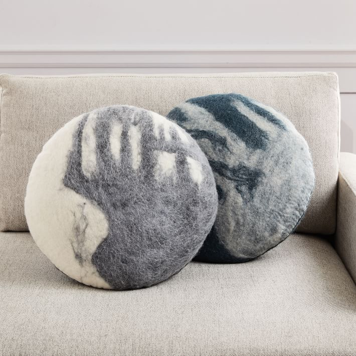 Full Moon Felted Pillows