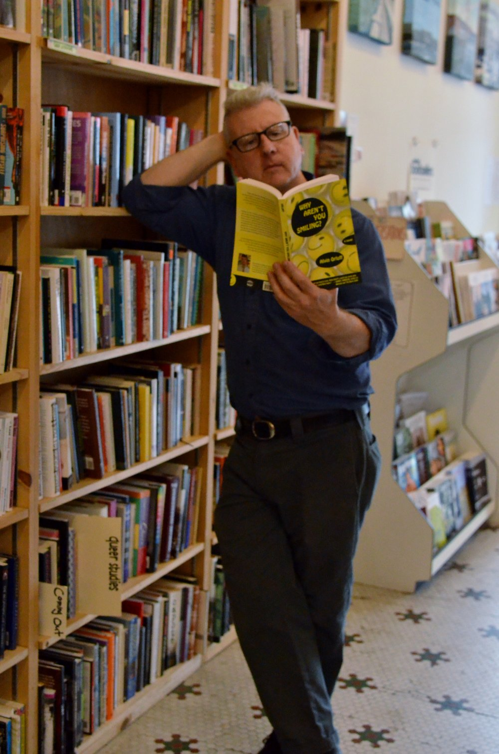 Why Aren't You Smiling?  is just one book in Castro Dog Eared's extensive collection of LGBT literature, the largest in Northern California.