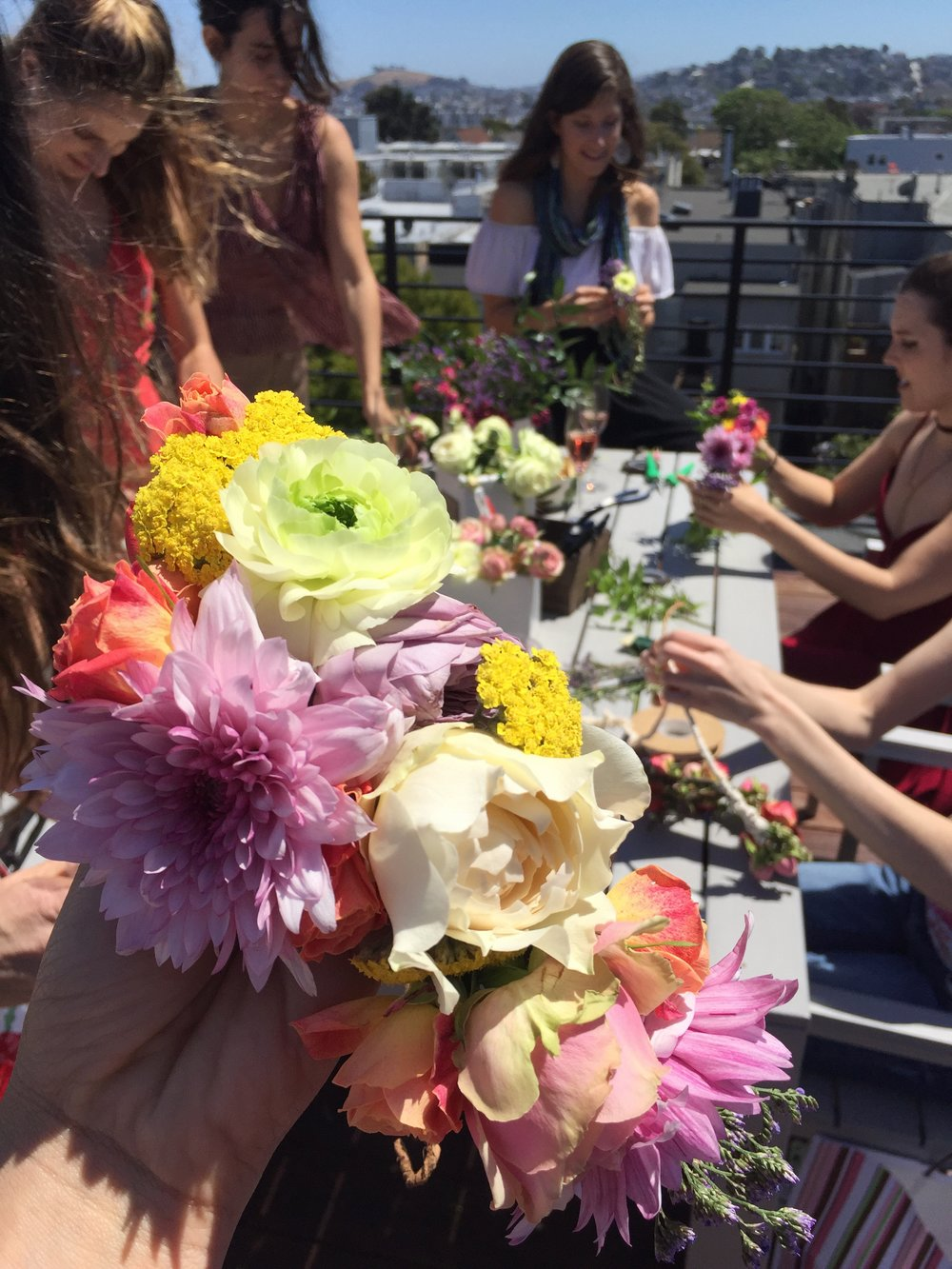 Flower Crown Workshop Party