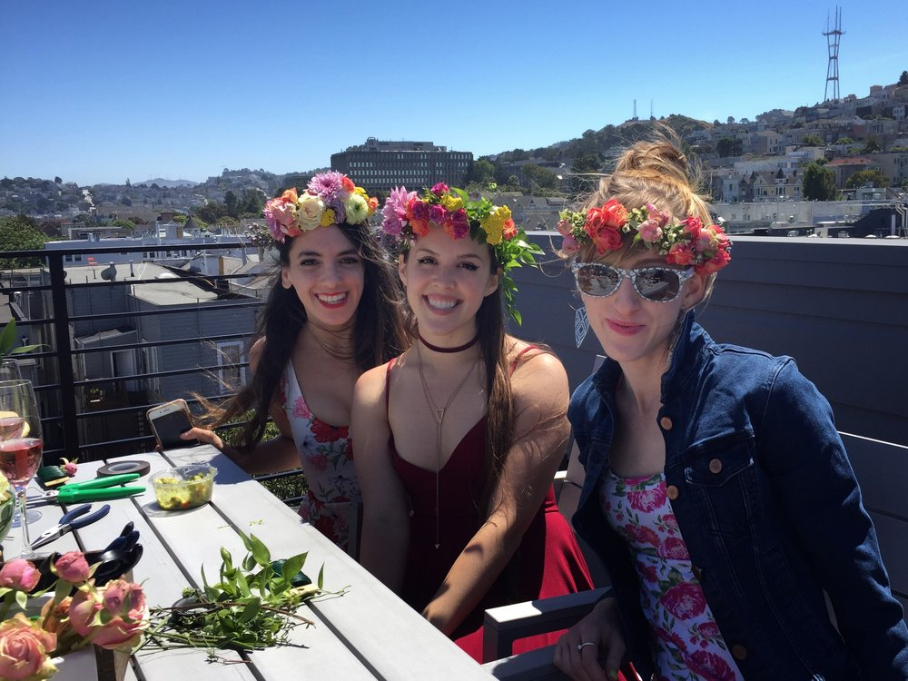 Flower Crown Bridal Bachelorette Party