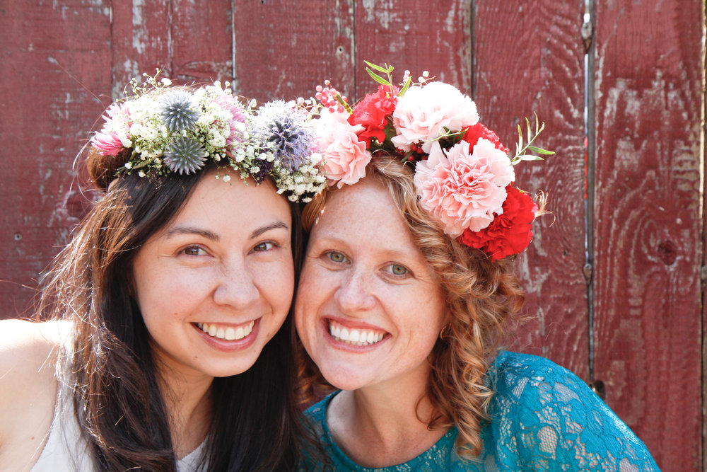 flower crown making bachelorette activity