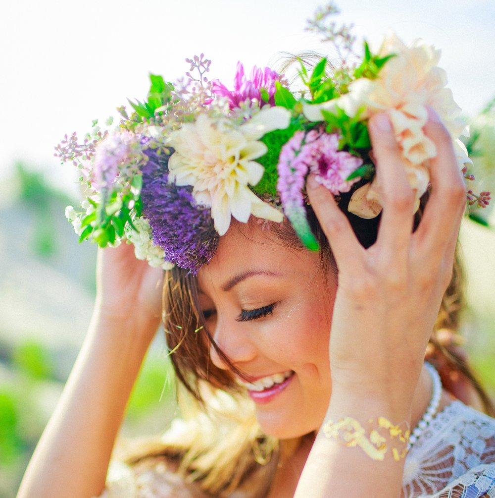 flower crown base DIY