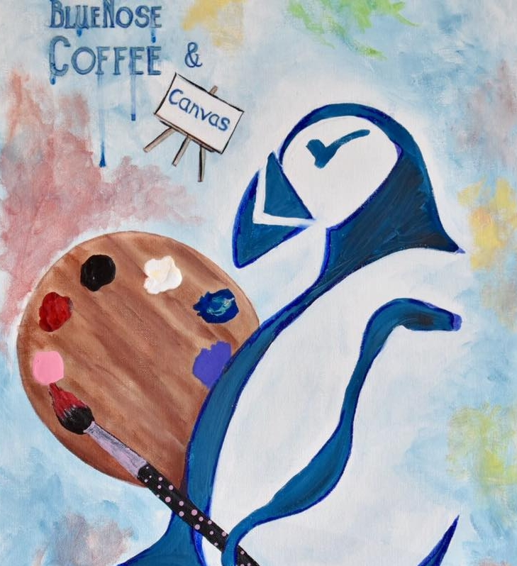 4th Thursday of EVERY month! - Join us for Canvas & Coffee at the Bluenose Coffee shop in Farmington fora fun & creative painting experience.