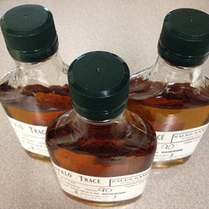 The actual barrel samples sent to us from Buffalo Trace Distillery.