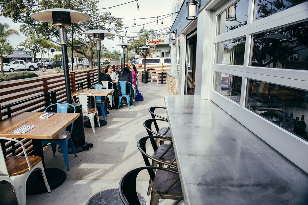 Wheat & Water's dog-friendly patio.